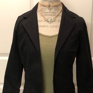 NWT OLD NAVY 2 pocket fitted black blazer